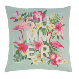 Flamingo Summer Decorative Pillow
