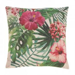 Hawaiian Botanical Decorative Pillow