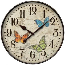 Westclox 32897BF 12 Round Butterfly Wall Clock