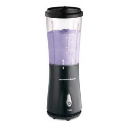 Personal Smoothie Blender with Travel Lid in Black by Hamilton Beach