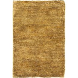 Hand-knotted Vegetable Dye Solo Carmel Hemp Rug (9' x 12')