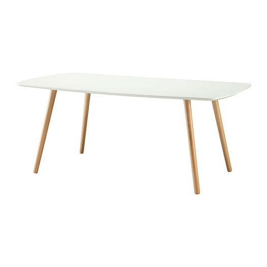 White Top Mid Century Coffee Table With