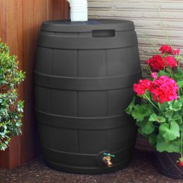 50 Gallon Rain Barrel in UV Resistant Resin with Diverter Kit