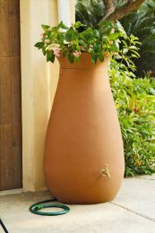 65-Gallon Urn Style Rain Barrel in Terra Cotta
